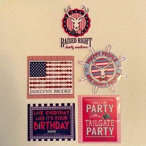 Jadelynn Brooke Sticker Set - Set of 5 stickers